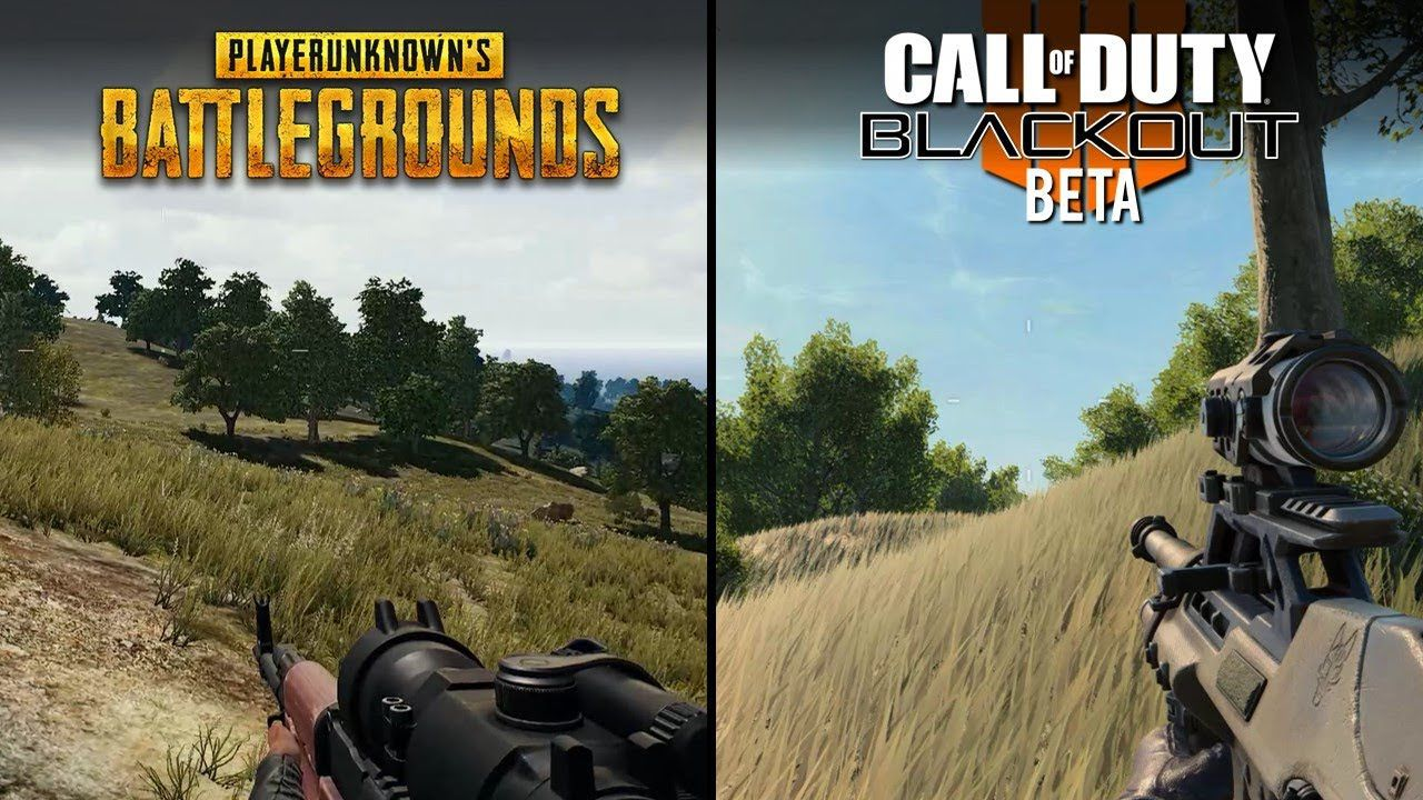 PUBG Vs Blackout Shooting