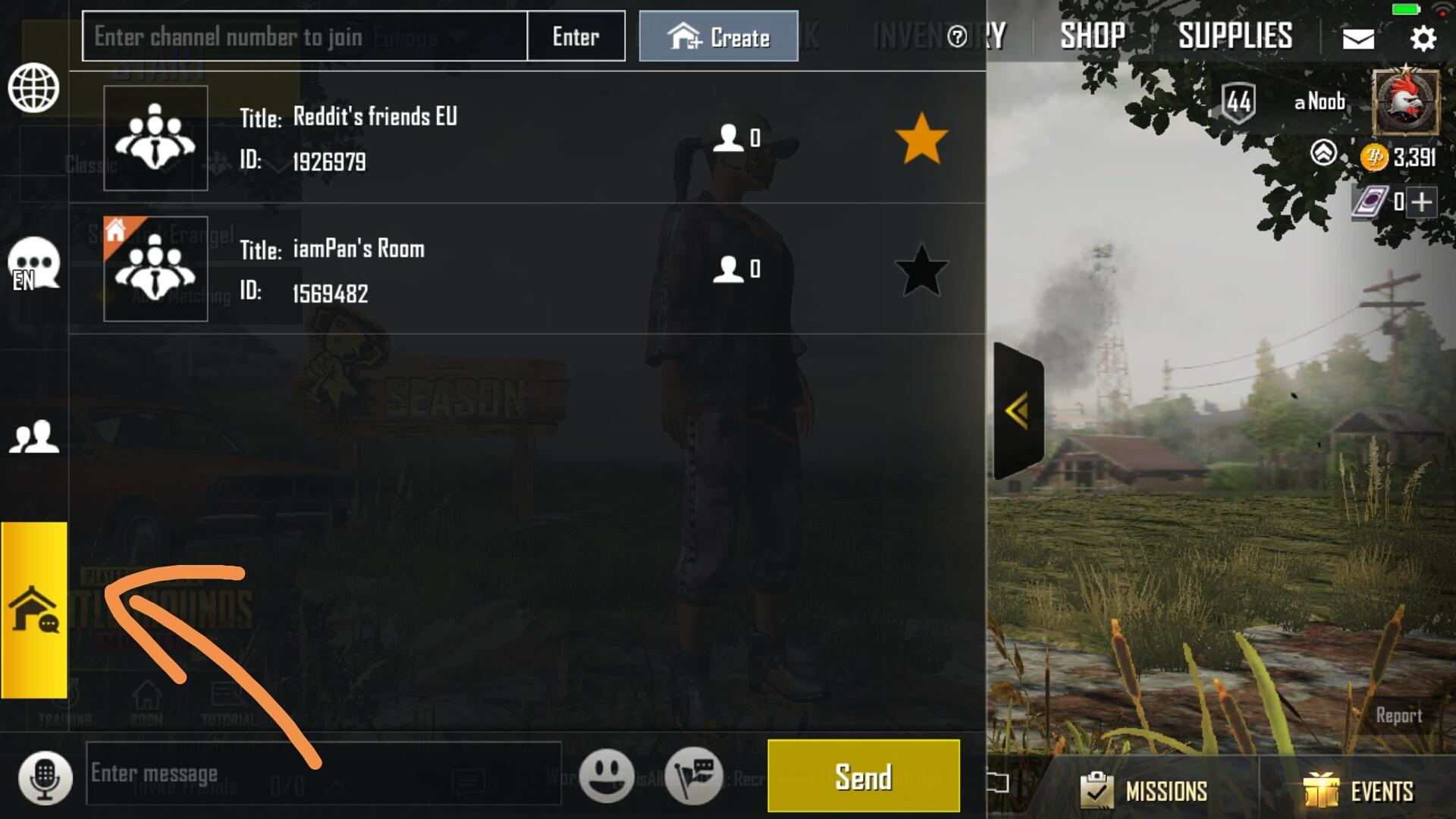 Advanced Room Card Pubg Mobile