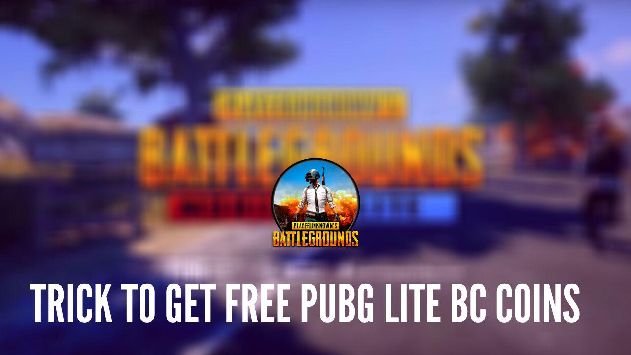 Free PUBG Lite BC Coins