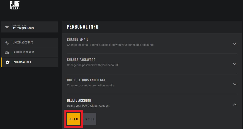 Delete PUBG Account 2021