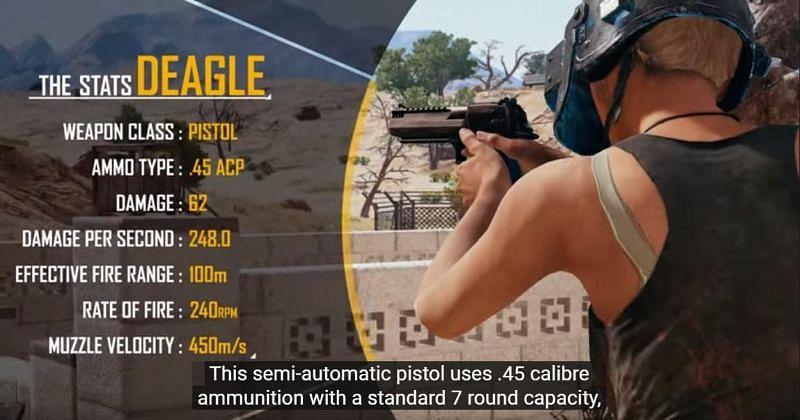 Desert Eagle In PUBG Stats