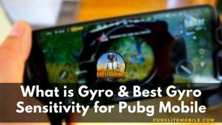 Best Gyro Sensitivity for Pubg Mobile