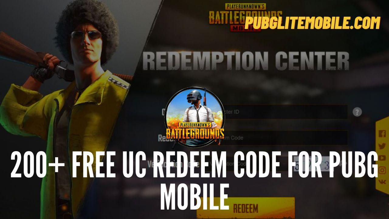 Free UC Redeem Code for PUBG