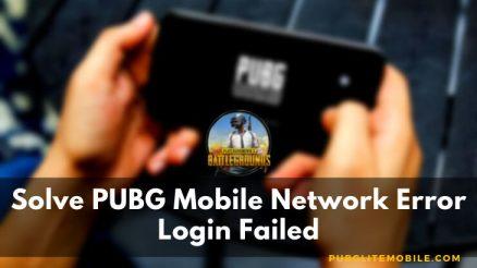PUBG Mobile Network Error Login Failed