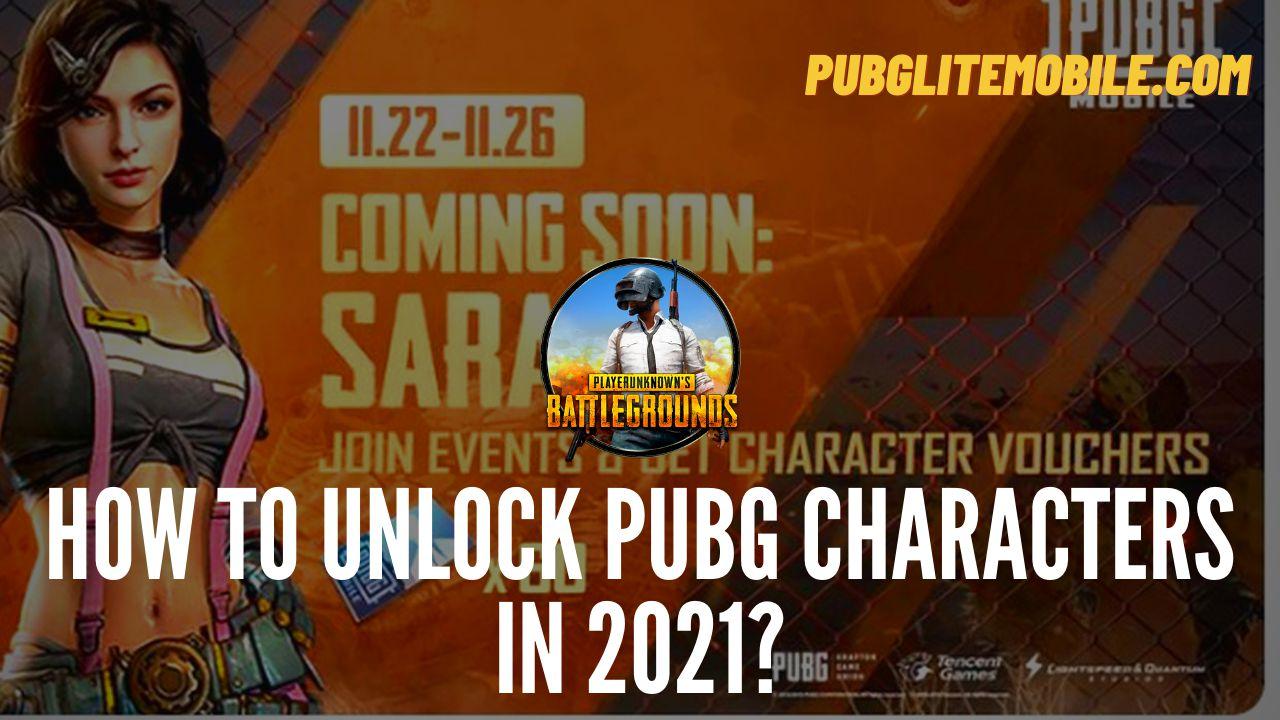 Unlock PUBG Characters